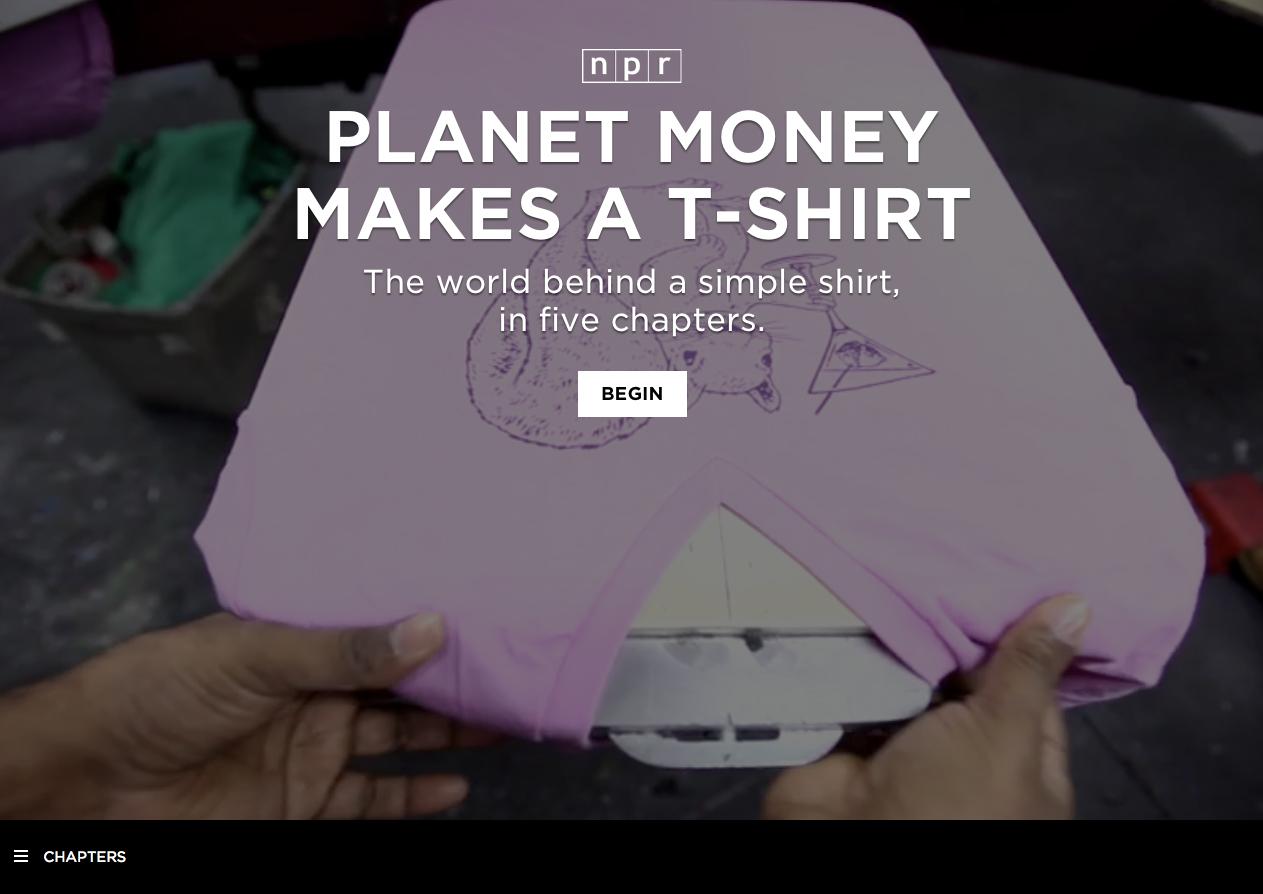 En t-shirt består av en hel värld